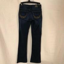 Rock Republic Womens 0 Jeans Rhinestone Angel Wings Boot Cut Blue Denim  - $19.98