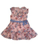 Janie&Jack Baby Girl Ruffle Dress Pink/Blue  size 18-24Month, Pink - $58.41