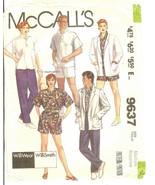 McCall's 9637 WilliSmith WilliWear Misses' & Mens' Jacket Shirt & Pants ... - $14.47