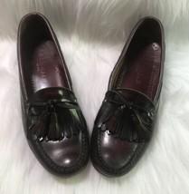 Cole Haan Burgundy Leather Moc Tassel Dress Loafer Men's US 8 USA Made - $28.01