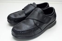Propet Pucker 11.5 Extra Wide Black Moc Strap Dress Shoes - $46.00