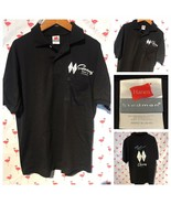 Superdawg Hotdog Stand Men M Rockabilly Diner Black Polo A3044 - $17.15