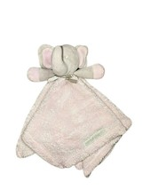 Blankets And & Beyond Pink Fleece Elephant Security Blanket Lovey Gray B... - $12.60