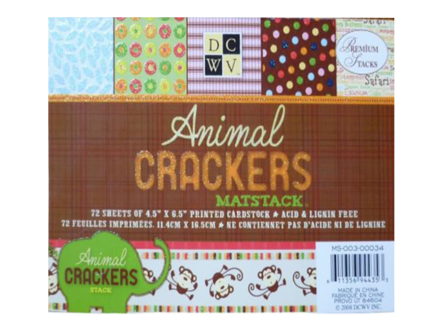 DCWV Animal Crackers Matstack Cardstock #MS-003-00034