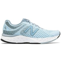 New Balance 680v6 Womens Blue Trainers Wide Running Sneakers Shoes Size W680LA6 - $122.99