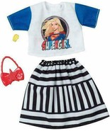 Barbie Supergirl Clothing Fashion Pack Casual Outfit Top Skirt Handbag New - $12.74