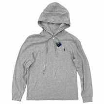 New Polo Ralph Lauren Lightweight Hooded T-Shirt Size Medium Heather Gre... - $44.99