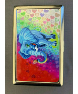 Cute Elephant Butterfly Heart Silver Metal Cigarette Case RFID Protectio... - $13.81