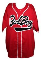 Biggie Smalls #10 Bad Boy Baseball Jersey Button Down Red Any Size image 3