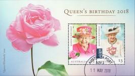 Australia stamp Queen Elizabeth Rose Flower Souvenir sheet - $6.10