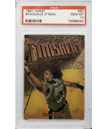 1997 TOPPS FINEST SHAQUILLE O'NEAL FINISHERS PSA GEM MINT 10 #50 MR) - $197.99