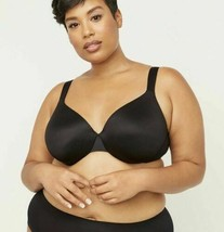 Catherines Solid Black Full-Coverage Smooth Underwire Bra Multiple Plus ... - $19.89