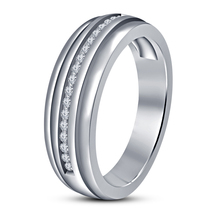 Mens Diamond Wedding Engagement Pinky Ring Band 14k White Gold Finish 92... - $92.99