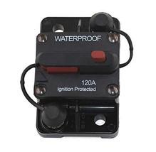 ZET 120A Circuit Breaker with Manual Reset Waterproof 120 Amp Circuit Breaker 12
