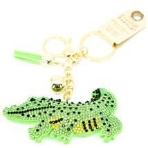 Pave Crystal Accent 3D Stuffed Pillow Alligator Crocodile Keychain Key Chain image 1