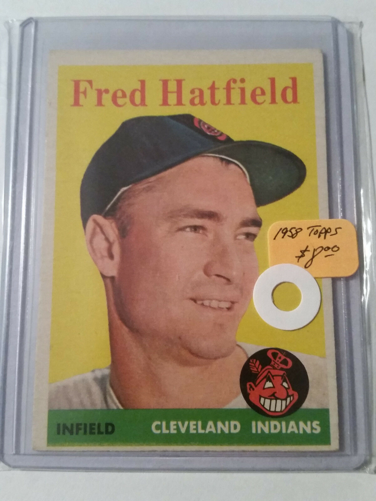 Primary image for 1958 Topps #339 Fred Hatfield : Cleveland Indians - A