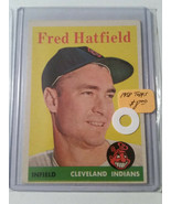 1958 Topps #339 Fred Hatfield : Cleveland Indians - A - $5.65
