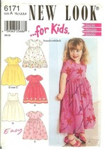 New Look.for Kids! 6171 Girl's Child's Dress w/Variations Pattern 6mo-4 UNCUT FF - $8.47