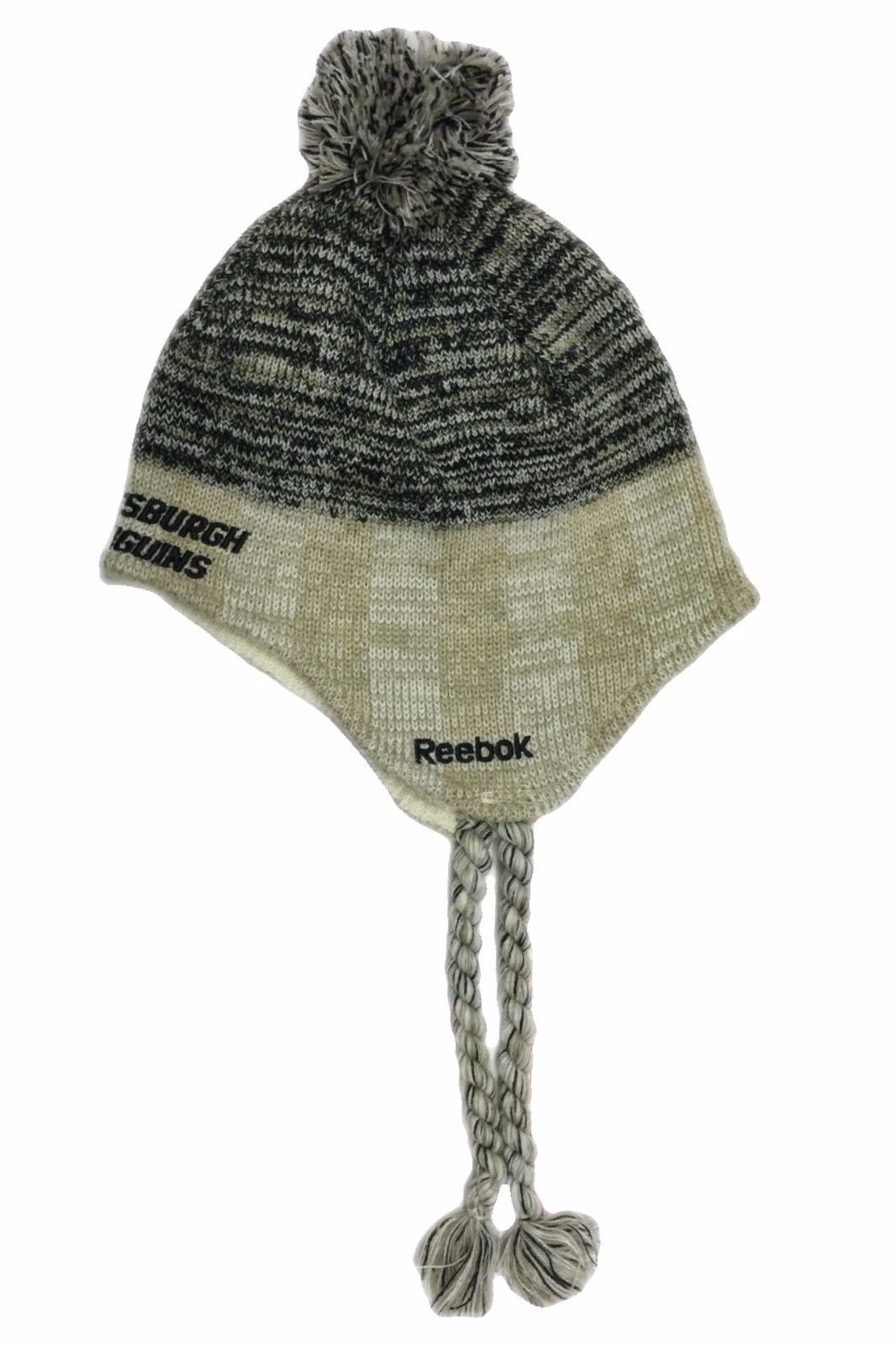 36e1aa7c89f Pittsburgh Penguins NHL Peruvian Winter Fitted Knit Pom Reebok Beanie Hat  NWT Os