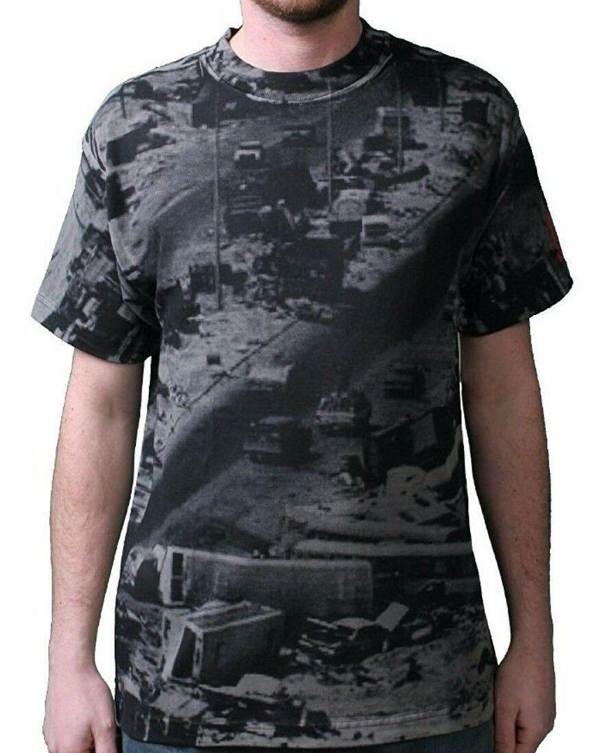 Rogue Status DTA Mens Black White Highway Mile of Death Iraq Kuwait T-Shirt NWT