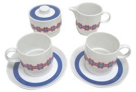Vintage Mellita Germany Porcelain Cups, Creamer and Sugar Bowl Coffee Se... - $25.00