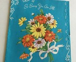 VINTAGE 1960s Get Well CARD So Sorry You're ILL Great Art Collectible  GW11