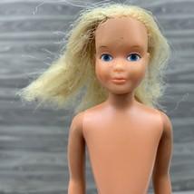 Vintage Skipper Quick Curl Barbie Doll No Clothing Blonde Hair Freckles - $12.99