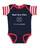 Boston Red Sox Baseball Fan It's in My DNA Baby Bodysuit Creeper  - $8.95