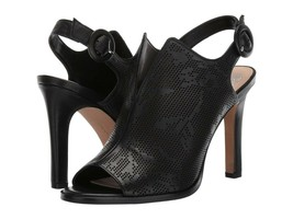 Vince Camuto Nattey2 Perforated Leather Sandals, Multiple Sizes Black VC... - $109.95