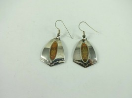 Sterling Silver & Brass Native American Nice Design Signed DKW Earring 5... - $568,24 MXN