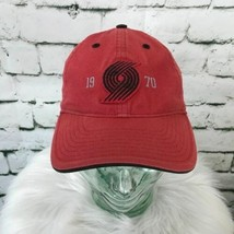 Adidas 1970 Oregon Trail Blazers Mens One Sz Hat Red NBA Strapback Ball Cap - $18.80