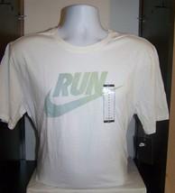 Nike Run Logo Pullover T Shirt Mens Sz L White NWT - $18.76