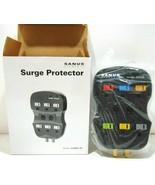 Sanus Elements ELM201-B1 6 Outlet Surge Protector Cable Phone Electric B... - $9.70