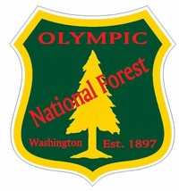 Olympic National Forest Sticker R3284 Washington YOU CHOOSE SIZE - $1.45+