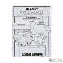 Color Your Own All About Passover Posters - $10.36