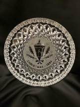 "Waterford Crystal Glass 8"" 12 Days of Christmas Plate Tray 1984 Holly Lamp - $26.72"
