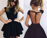 Party backless flared women skater dress thumb155 crop