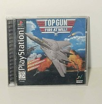 Top Gun Fire At Will PS1 Black Label Game Complete - $7.99