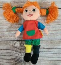 "Vintage Micki Plush Pipi Longstockings Cloth Doll 8"" Astrid Lindgren Sweden - $19.39"