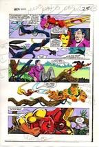 Original 1983 Iron Man 177 Marvel Comics color guide art page 25: 1980's - $99.50