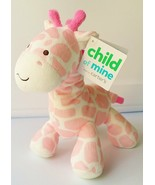 NWT Carter's Child of Mine Pink White Giraffe Rattle Plush Toy NEW - $38.60