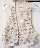 RALPH LAUREN DENIM & SUPPLY HAND CRAFTED BEAD & SHELL VEST Size S NEW - $49.95