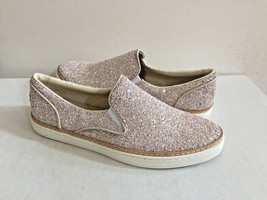 UGG ADLEY CHUNKY GLITTER POWDER SLIP ON LEATHER SNEAKERS US 9 / EU 40 / ... - $79.48