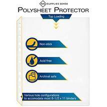 500 Page Protectors 8.5 x 11, Top Loading / 3 Hole Design Sheet Protectors, Arch image 4
