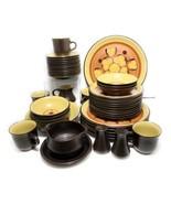 42 Piece Set Noritake Folkstone Genuine Stoneware Safari 8501 Vintage 70... - $197.99