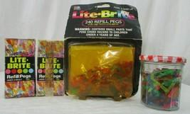 Vintage Lot of 985 Lite Brite Refill Pegs Light Bright 1979.1990  Hasbro 5465 - $49.49