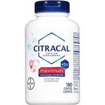 Citracal Maximum Caplets with Vitamin D3, 180-Count Bottle (Packaging Ma... - $22.22