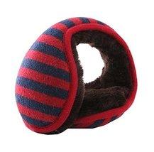 Keep Your Ear Warmer,Unisex Foldable Ear Warmers Fleece Winter EarMuffs,Red - $13.26
