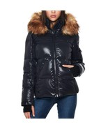 S13 New York Ladies' Down Puffer Jacket, Jet/Natural , Size L - $74.24