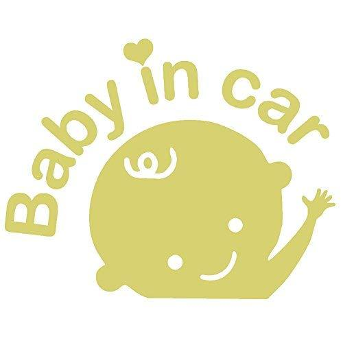 "Primary image for BABY IN CAR V1 Vinyl Decal - size: 6.5"", color: GOLD - Windows, Walls, Bumpers,"